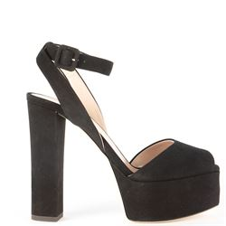 black with heel sandals