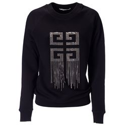 black embellished 4g sweatshirt