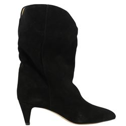 black suede dernee booties