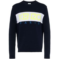 blue logoed sweatshirt