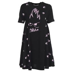 black psycho billy mini dress