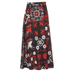 multicoloured long skirt