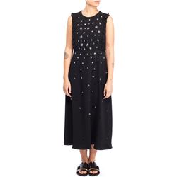 sequines flowers black dress