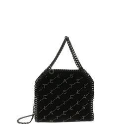 black embellished velvet mini falabella bag