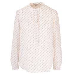 monogram silk blouse