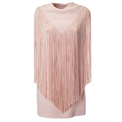 pink fringed dress