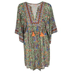 silk blend multicoloured kaftan