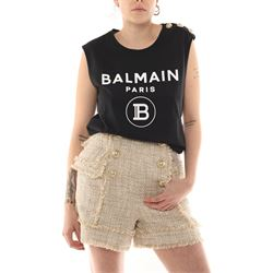 BALMAIN TOP WITH SLEEVES