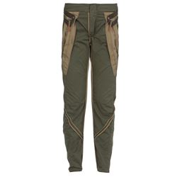 military green cotton trousers