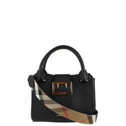 black the small buckle tote bag