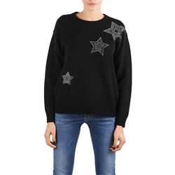 black applique sweater