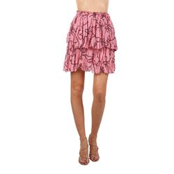 printed rouched miniskirt