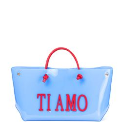 borsa tote in pvc 'love is love' collection