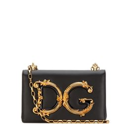 borsa dg girl in pelle nera