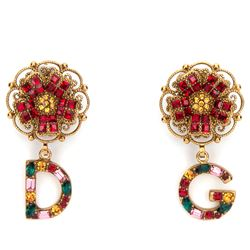 pendant earrings with dg glass charms