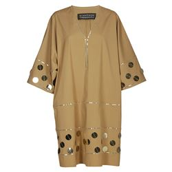 brown oversize dress