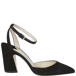 85mm black suede micky pumps