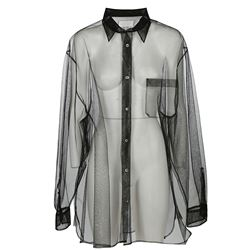 camicia oversize in tulle