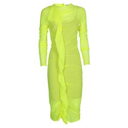 fluo frilled dress