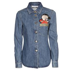 camicia in denim patch looney tunes