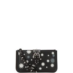 romantic punk leather clutch bag