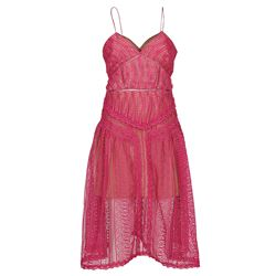 fuchsia embroidered dress