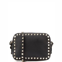 black mini handle bag
