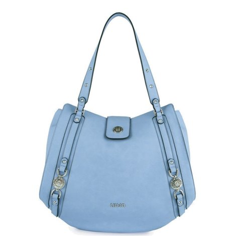 clear blue shopping bag