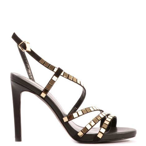 black bloom sandals