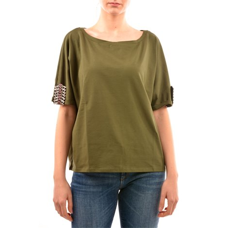 green embellished t-shirt