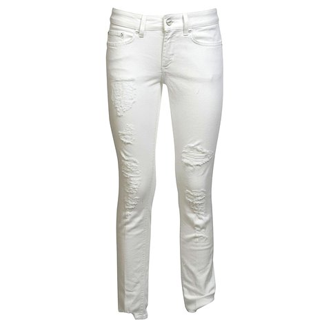 white monroe cropped jeans