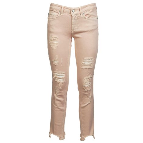 pink monroe cropped jeans