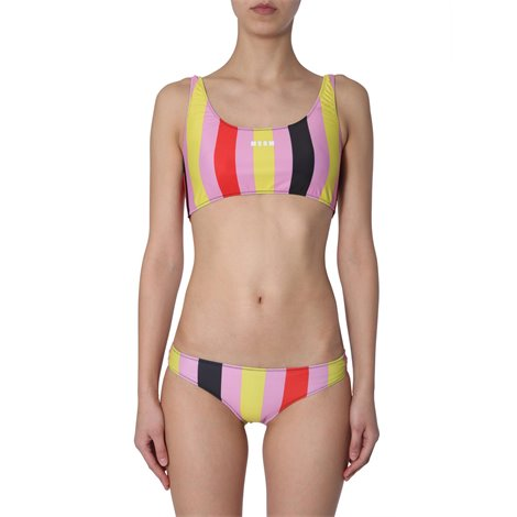 striped two pieces swimsuit
