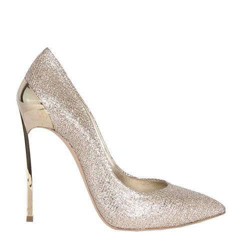 gold leather pumps 115mm