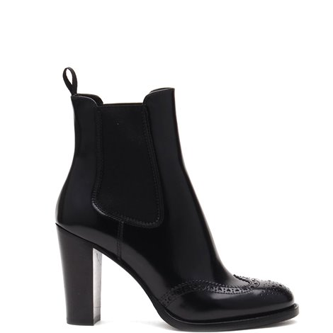 90mm black leather booties