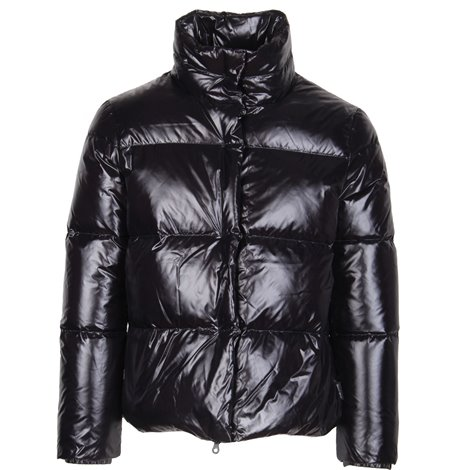 black quilted down padded jacket