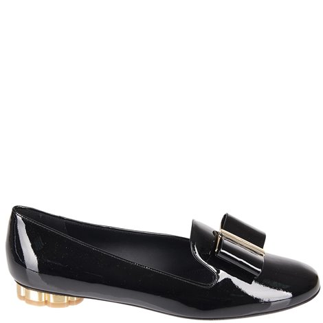 30mm black fiocco vara pumps