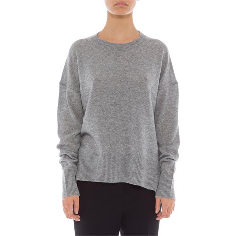 grey loose fit cashmere sweater