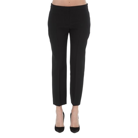 silk blend cropped pants