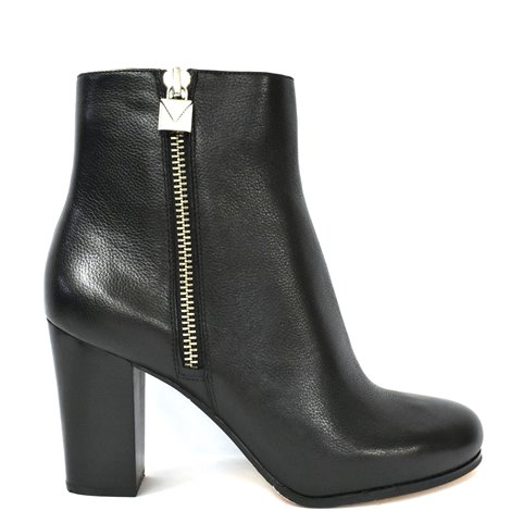 85mm black leather ankle boots