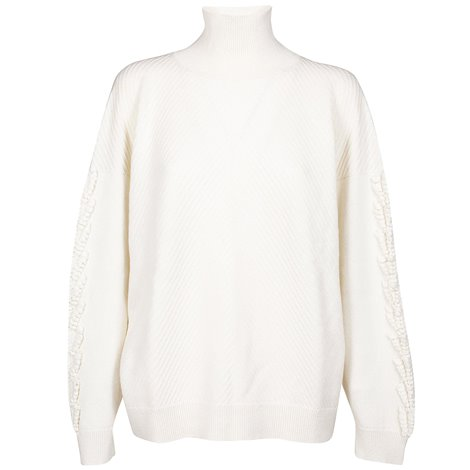 white cashmere sweater