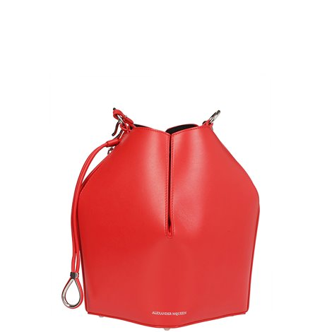 red leather bucket