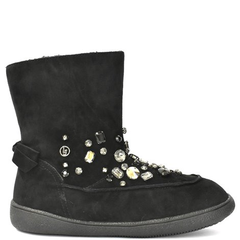 black embellished julia ankle boots