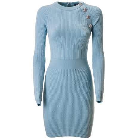 light blue wool dress
