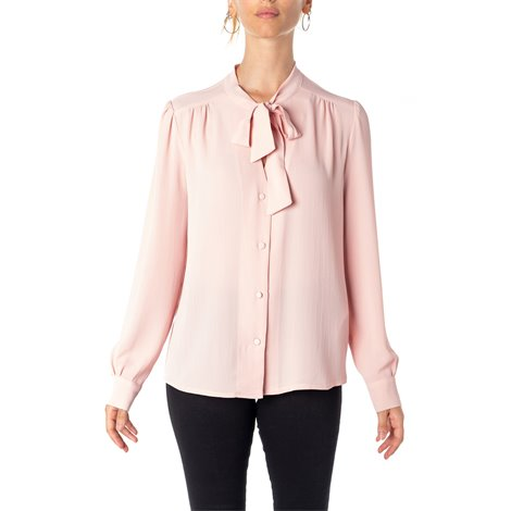 pink bowed blouse