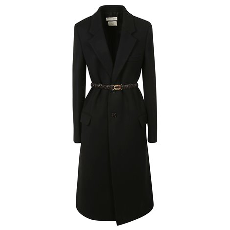 black wool coat