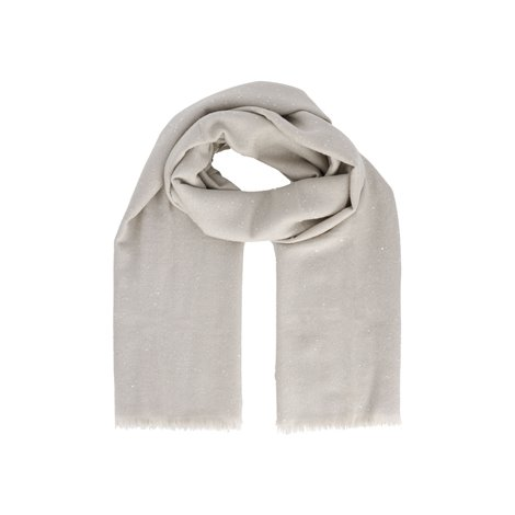 beige silk and cashmere scarf