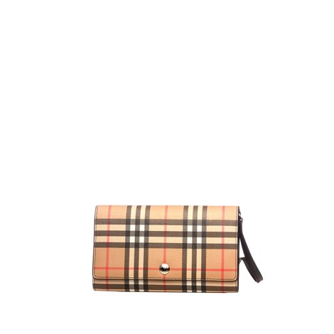 checked cotton  wallet
