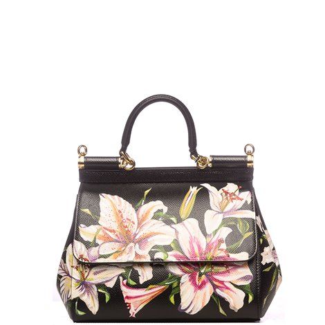 borsa sicily soft media in pelle nera