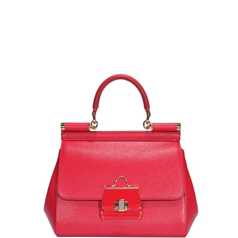 red leather small sicily hand bag